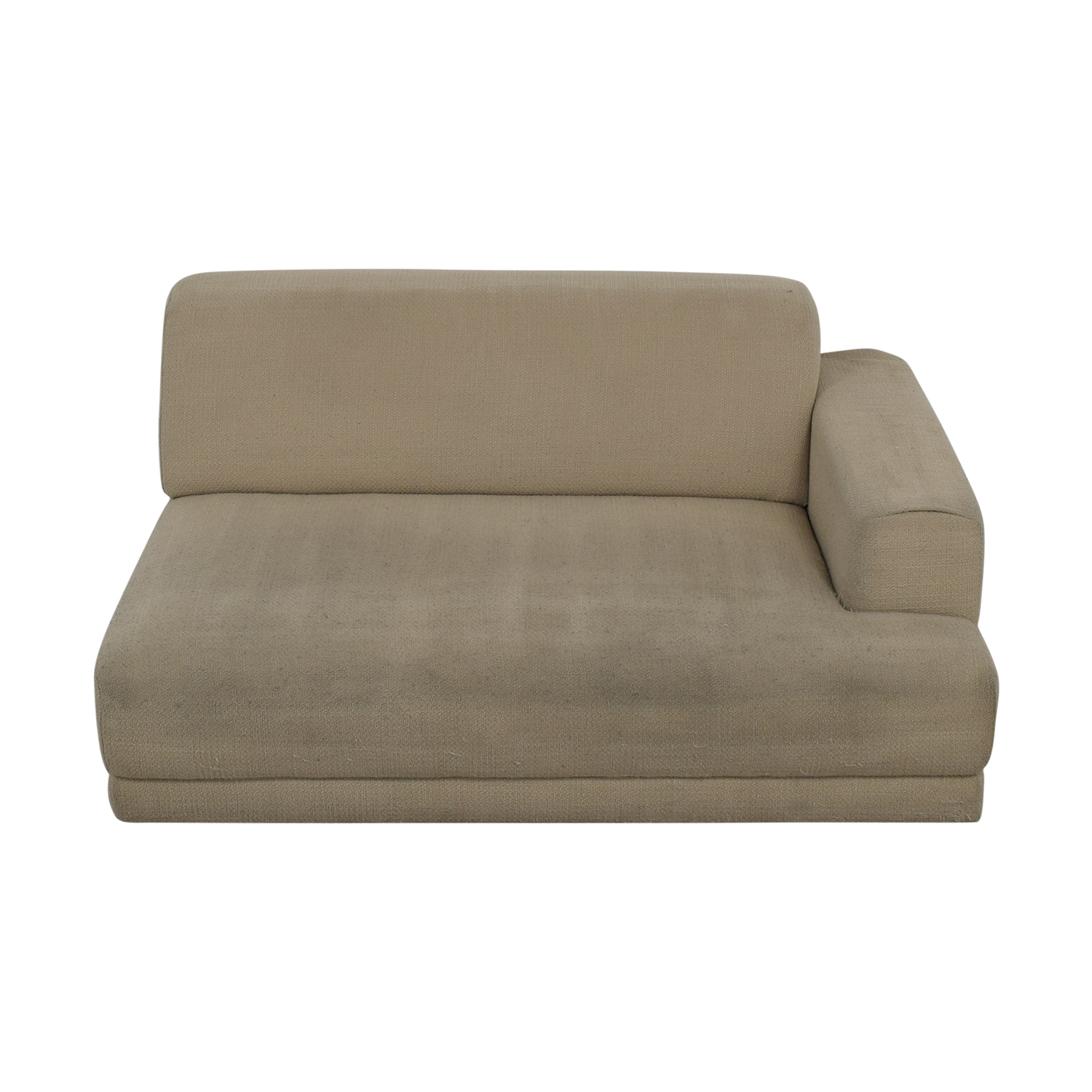 Crate & Barrel Crate & Barrel Beige One Armed Chaise Sofa nyc