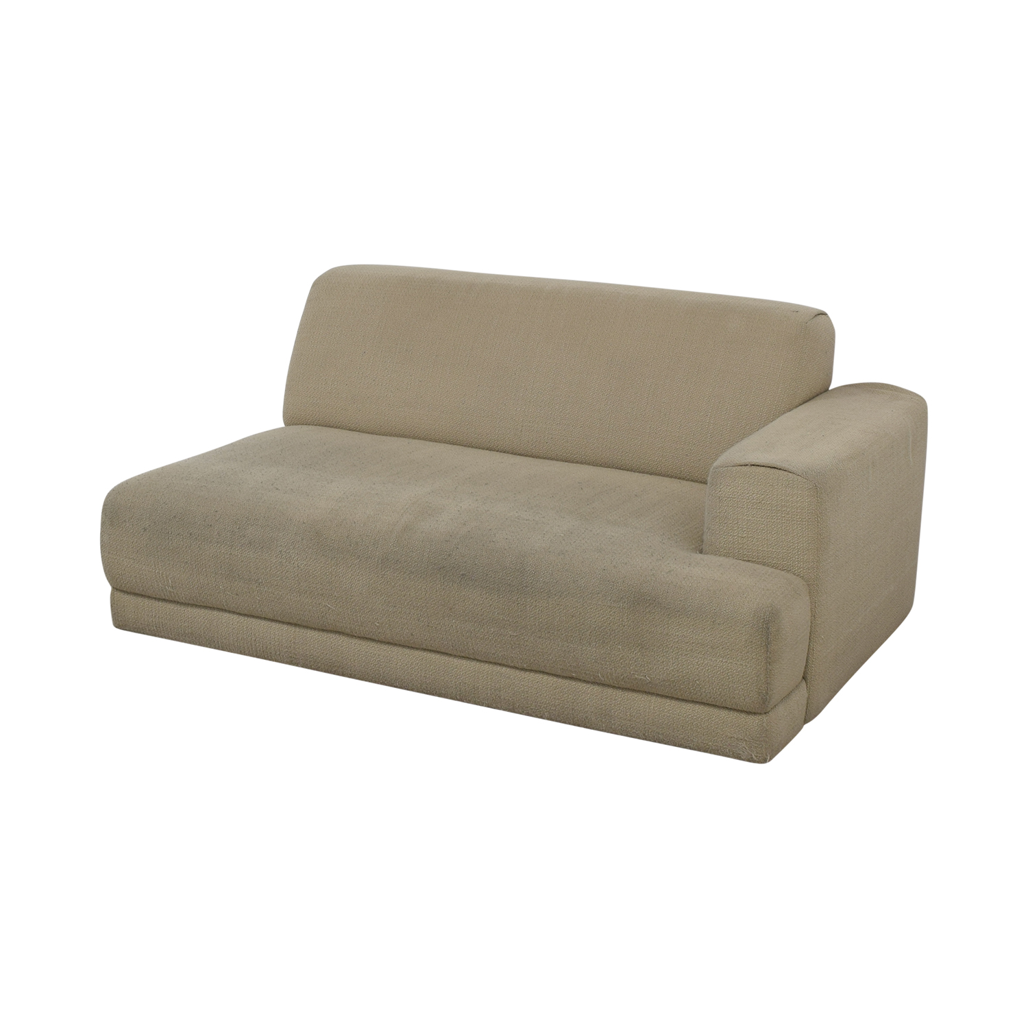 shop Crate & Barrel Beige One Armed Chaise Sofa Crate & Barrel Sofas