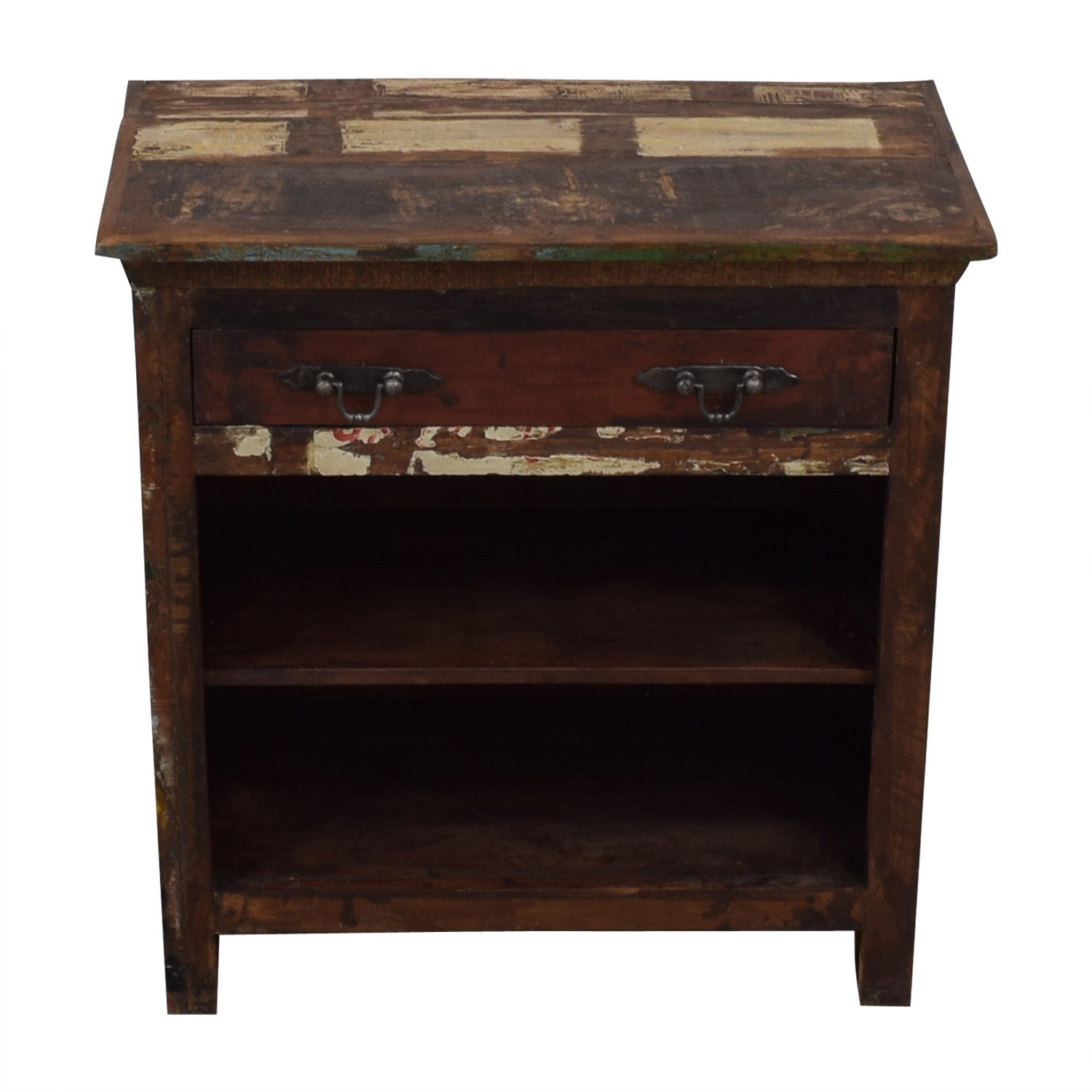 Rustic Single Drawer Accent Table second hand