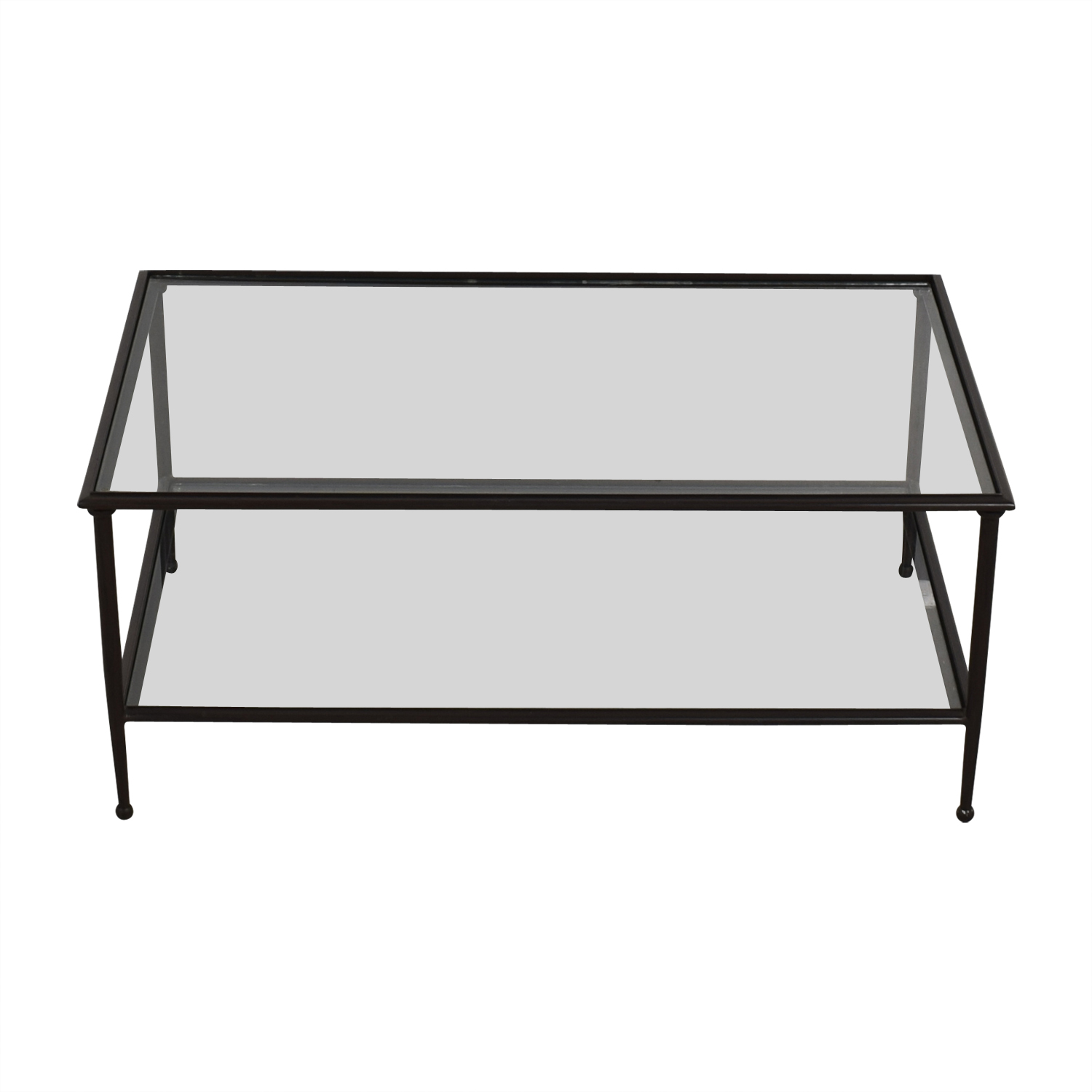 shop Crate & Barrel Crate & Barrel Glass and Black Coffee Table online