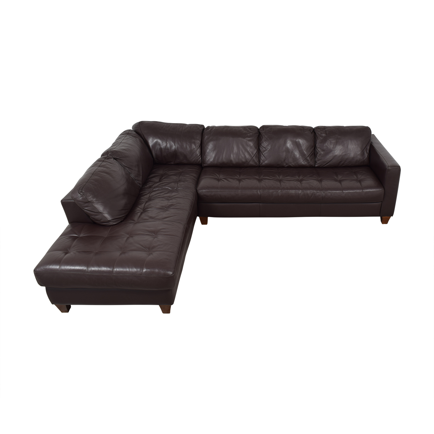 shop Natuzzi Brown Sectional Natuzzi Sectionals