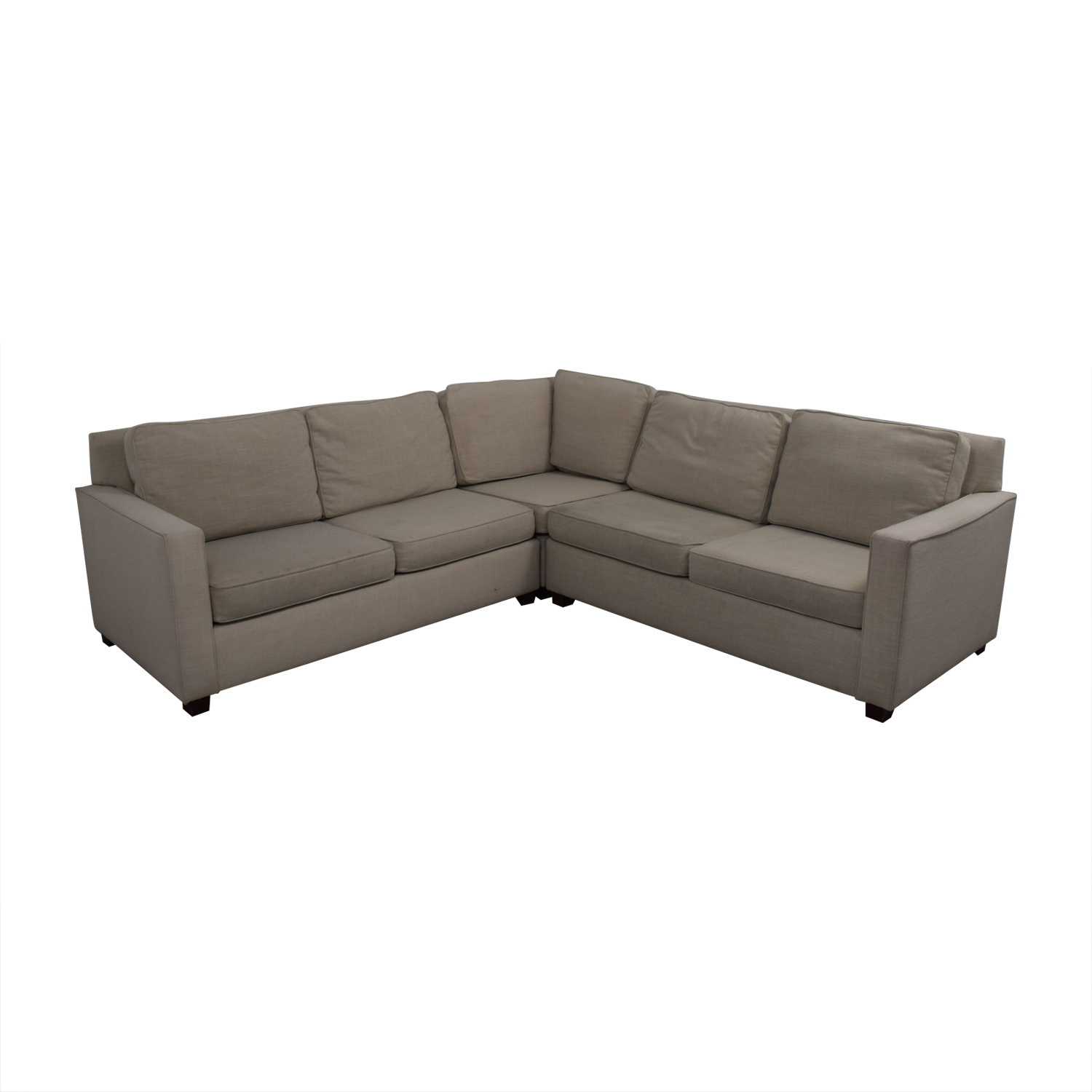 West Elm West Elm Henry Beige L-Shaped Sectional dimensions