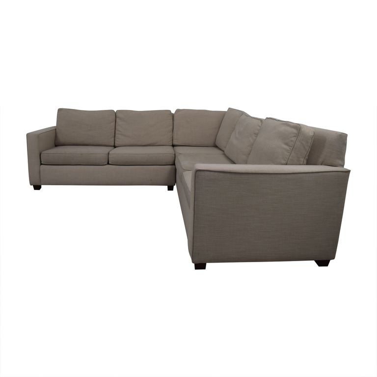 West Elm West Elm Henry Beige L-Shaped Sectional nyc
