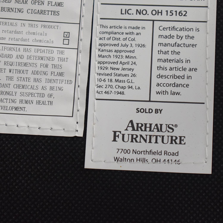 shop Arhaus Black Leather and Dark Espresso Wood Chairs Arhaus