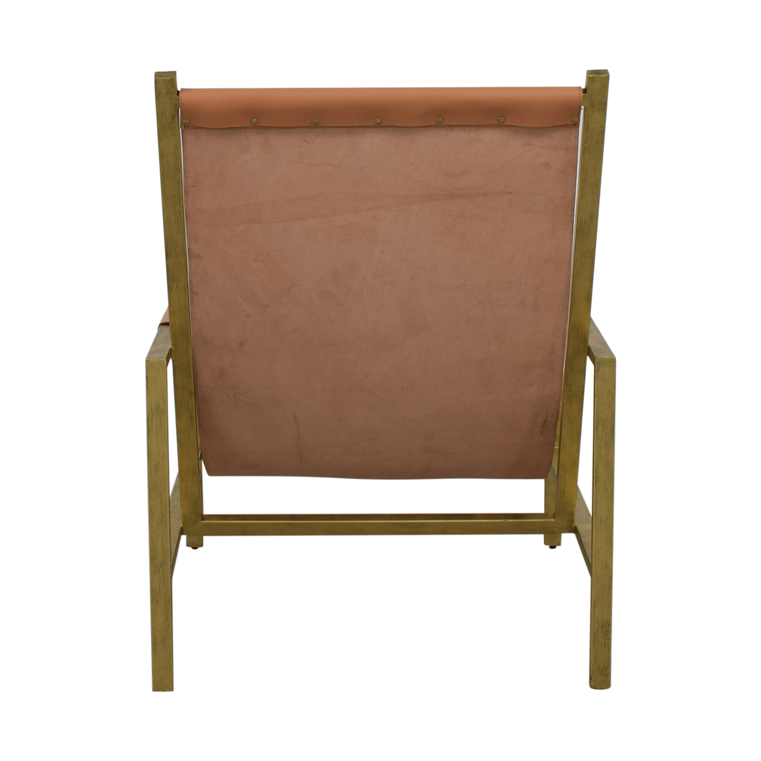 One Kings Lane One Kings Lane Tan Leather Accent Chair for sale