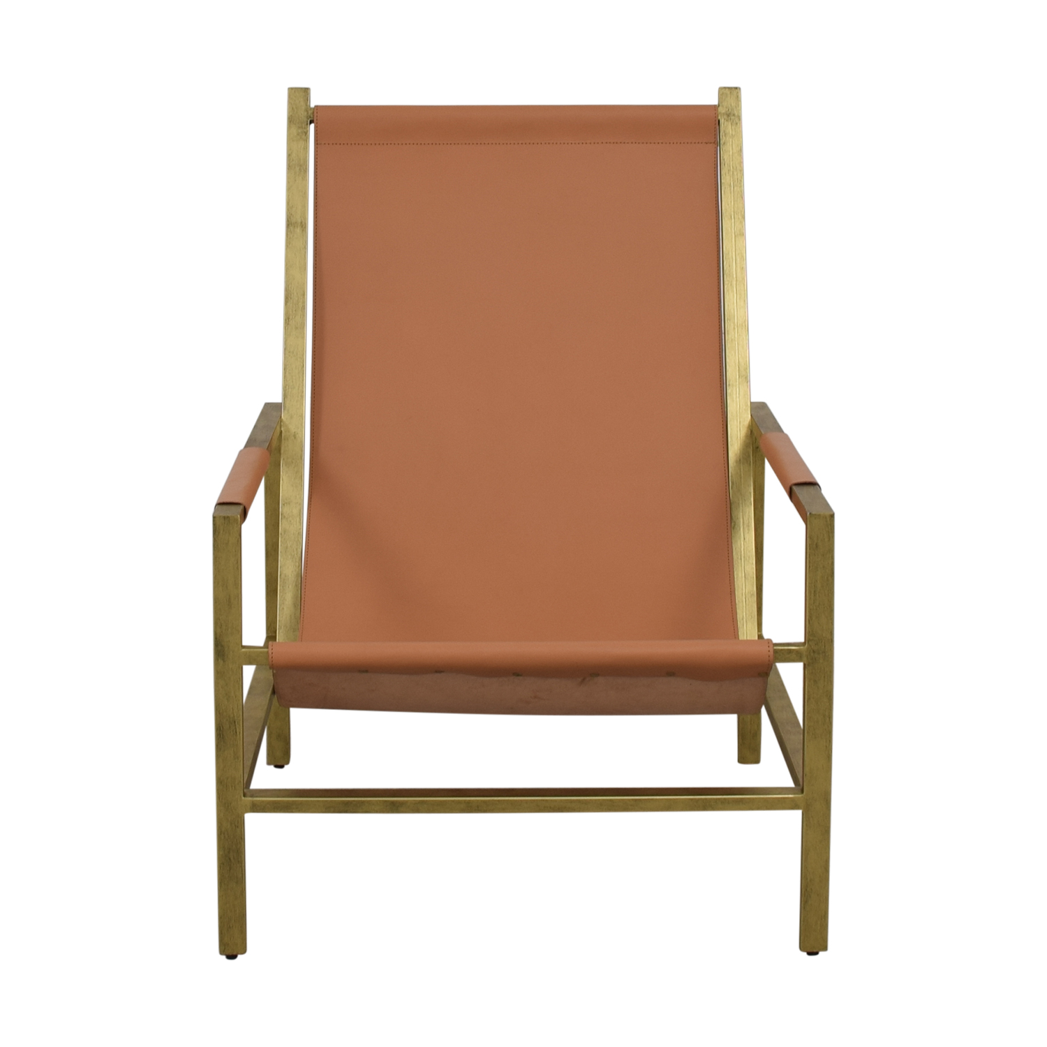 One Kings Lane One Kings Lane Tan Leather Accent Chair