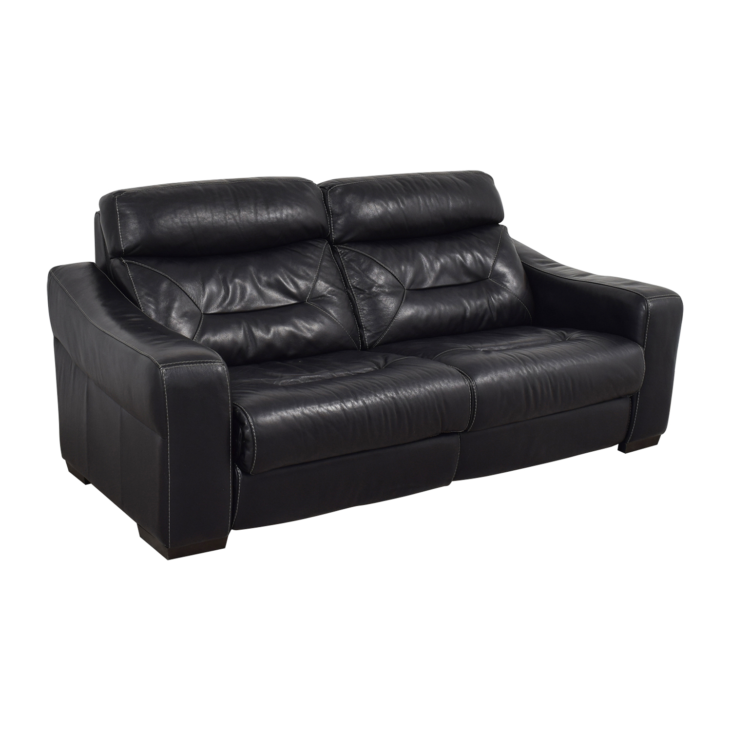 Macy's Macy's Black Leather Recliner Sofa Recliners