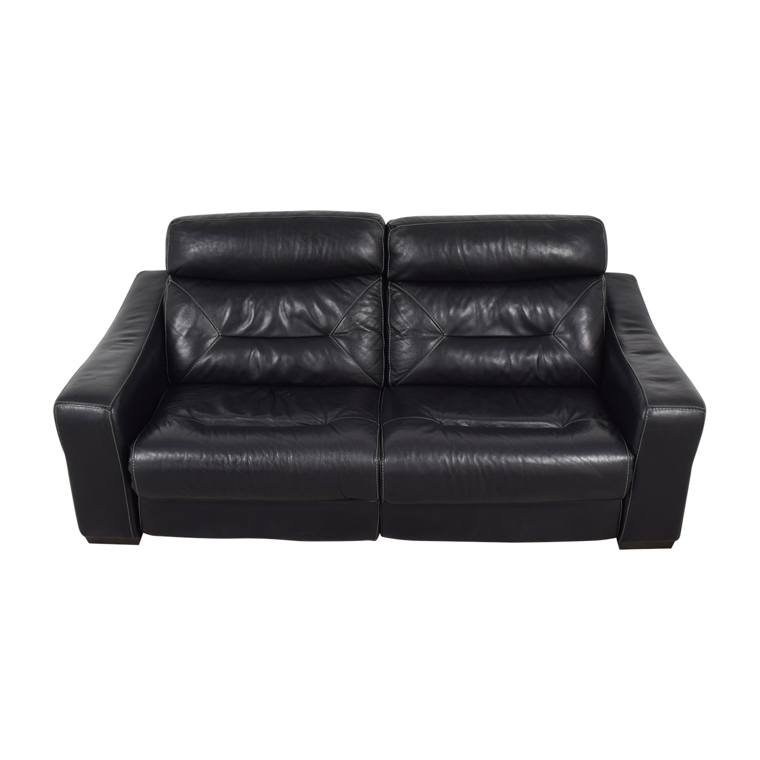 Macy's Black Leather Recliner Sofa / Chairs