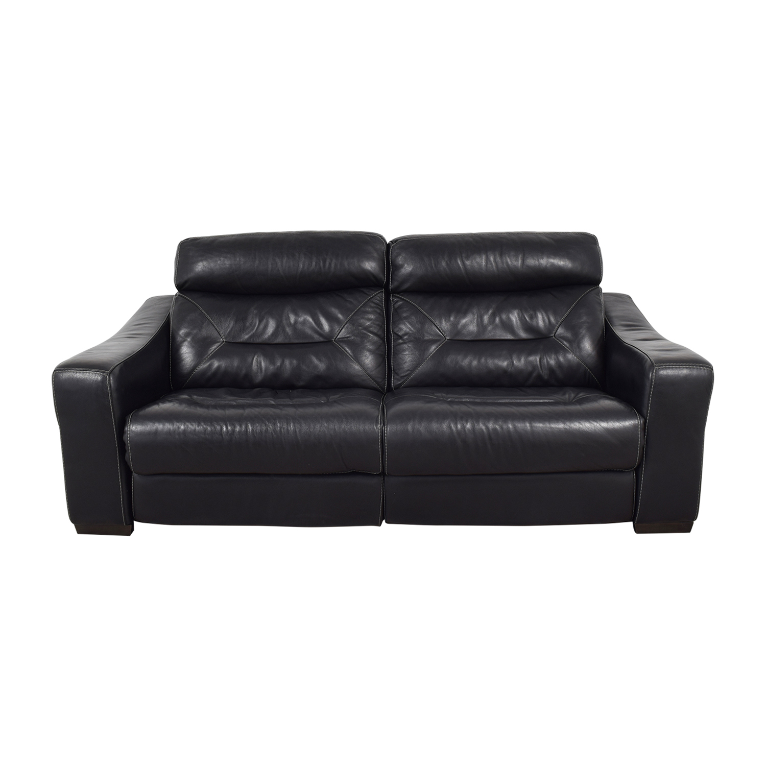shop Macy's Black Leather Recliner Sofa Macy's Recliners