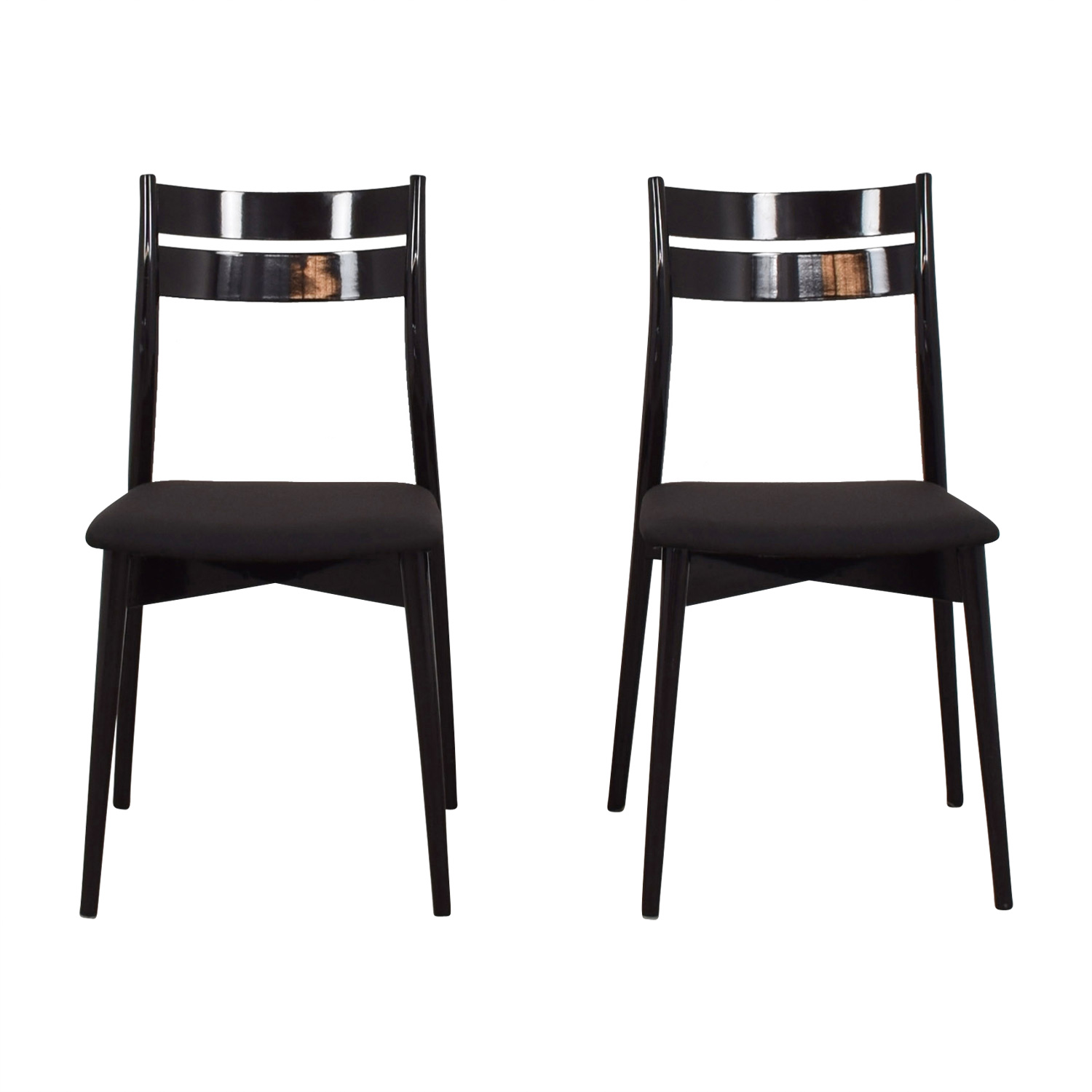 Calligaris Black Dining Chairs / Chairs