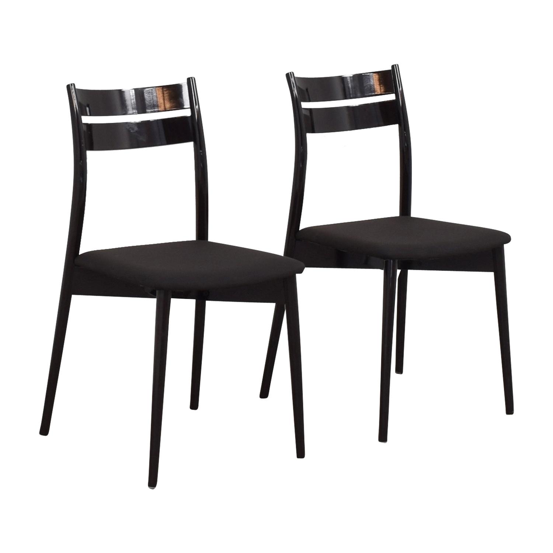 Calligaris Black Dining Chairs Calligaris