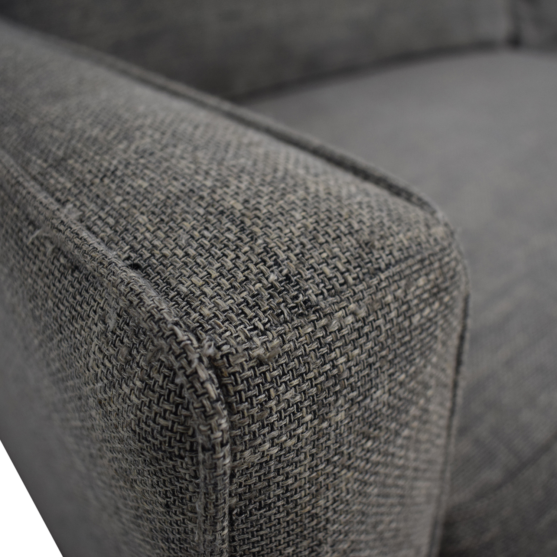 buy West Elm West Elm Paidge Grey Two-Cushion Sofa online