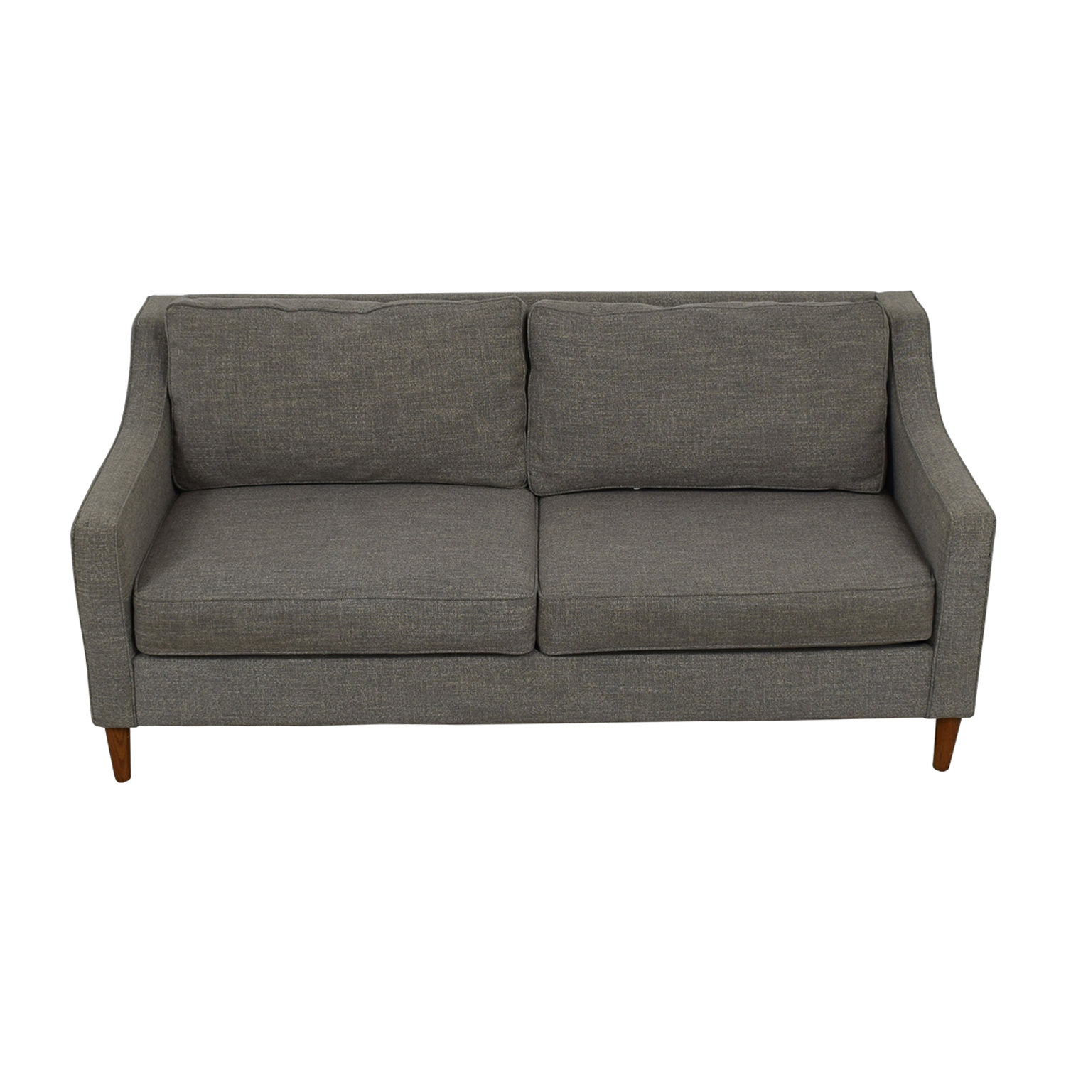 West Elm Paidge Grey Two-Cushion Sofa / Sofas