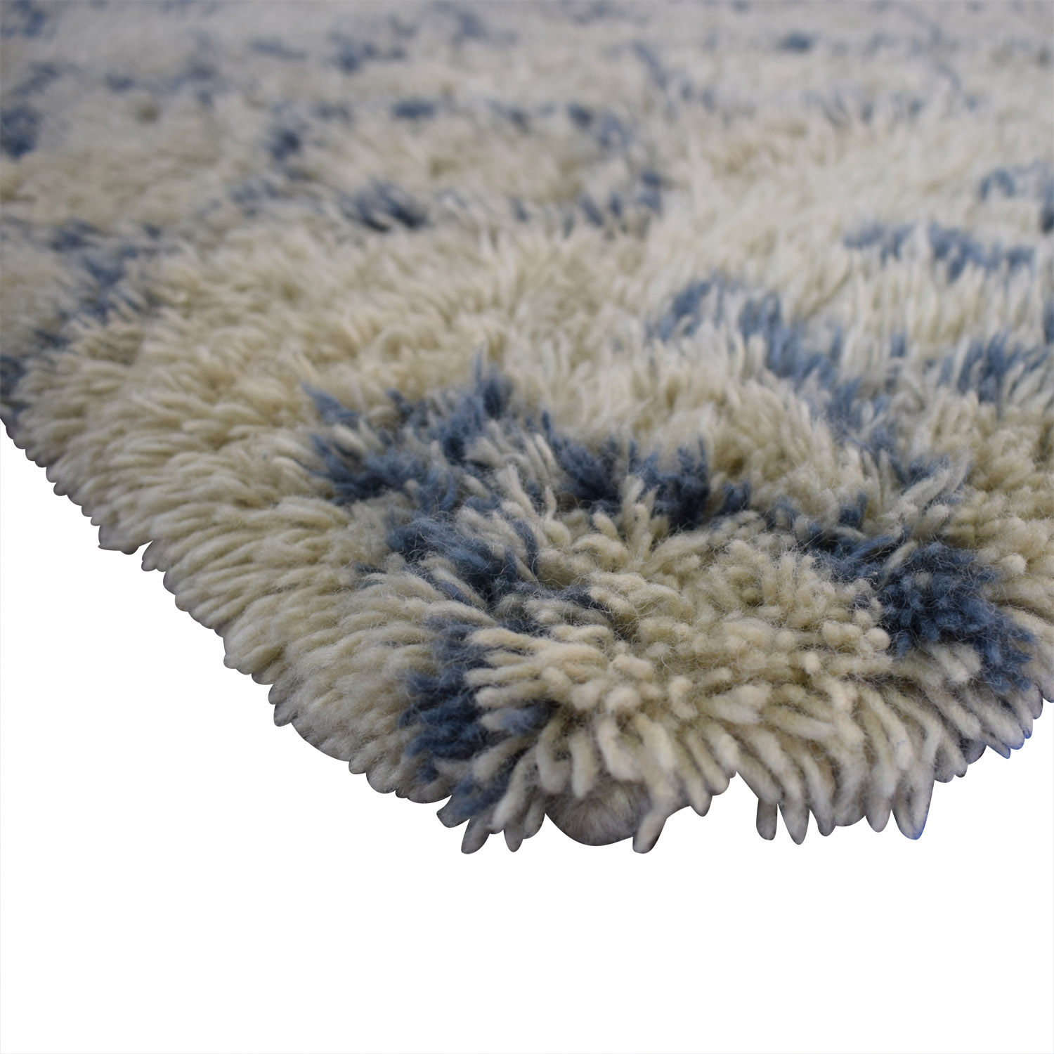 Surya Moroccan Beber Blue and Beige Shag Rug / Decor