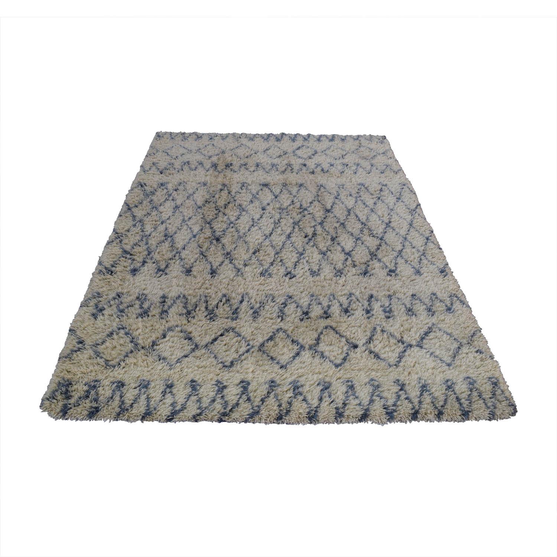 Surya Surya Moroccan Beber Blue and Beige Shag Rug Rugs