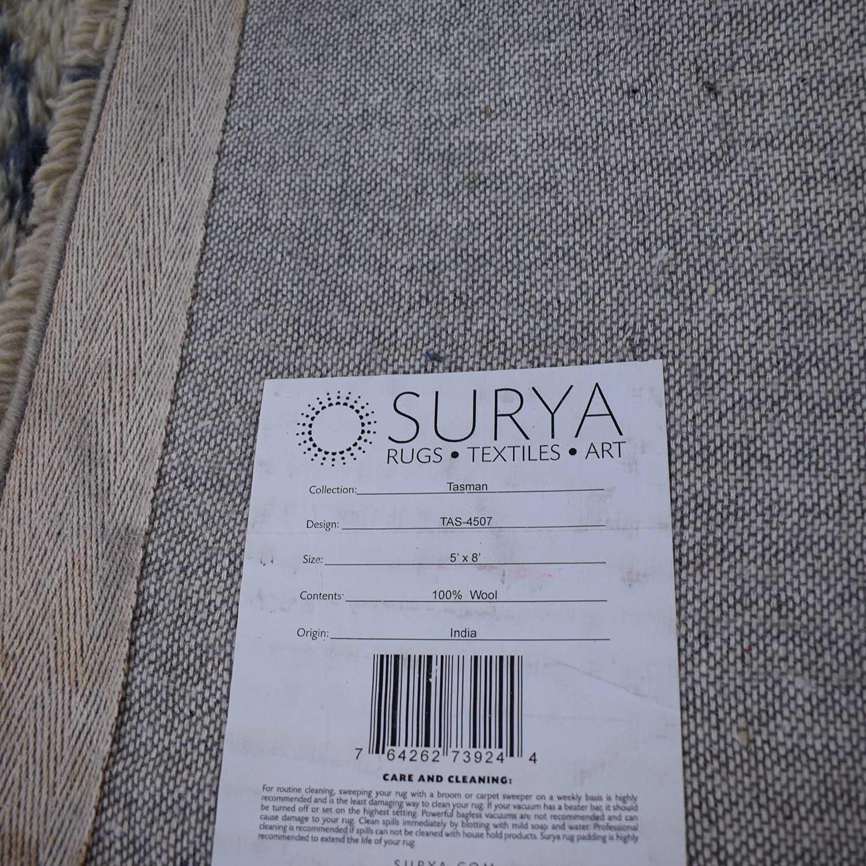shop Surya Surya Moroccan Beber Blue and Beige Shag Rug online