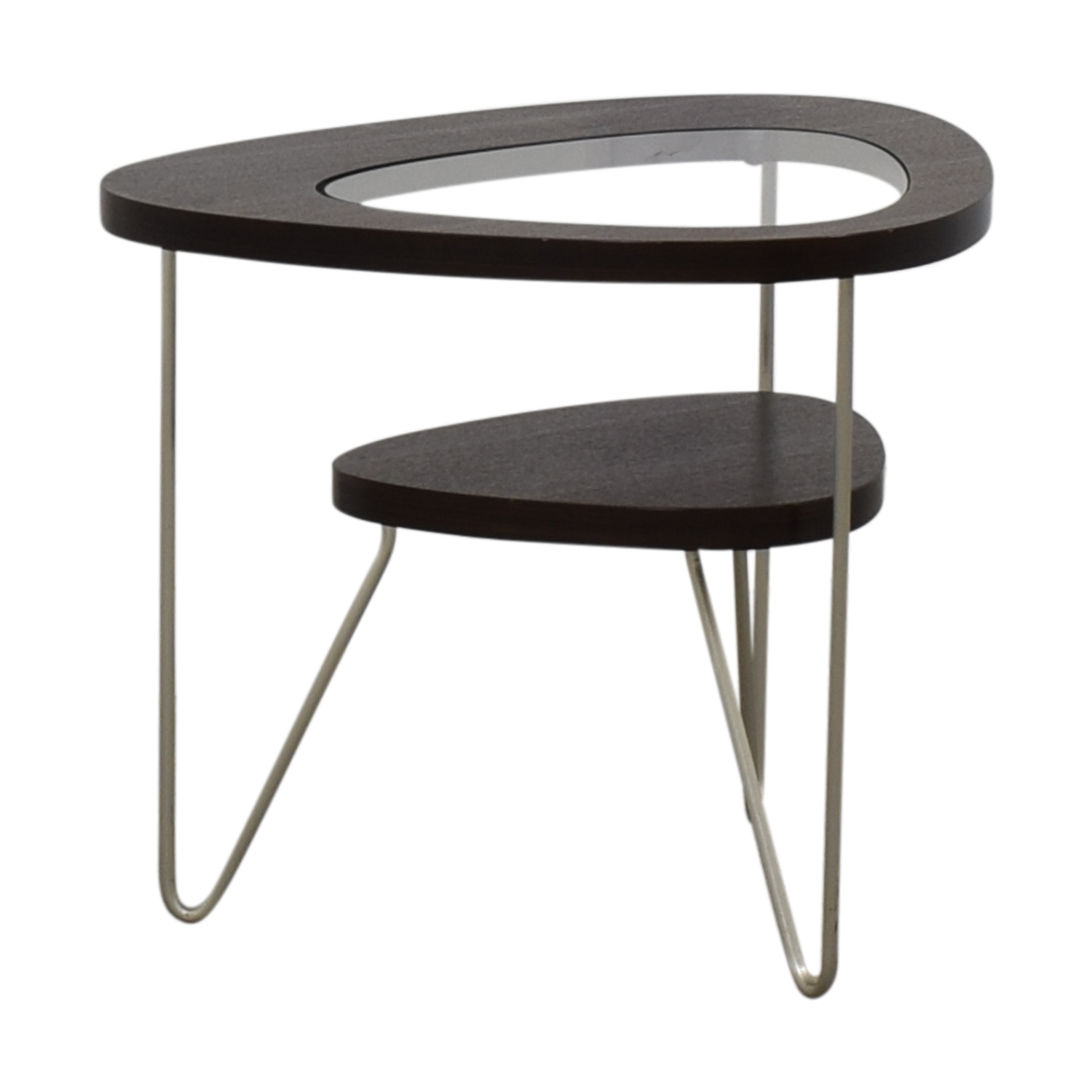 BDI BDI Glass and Wood Side Table