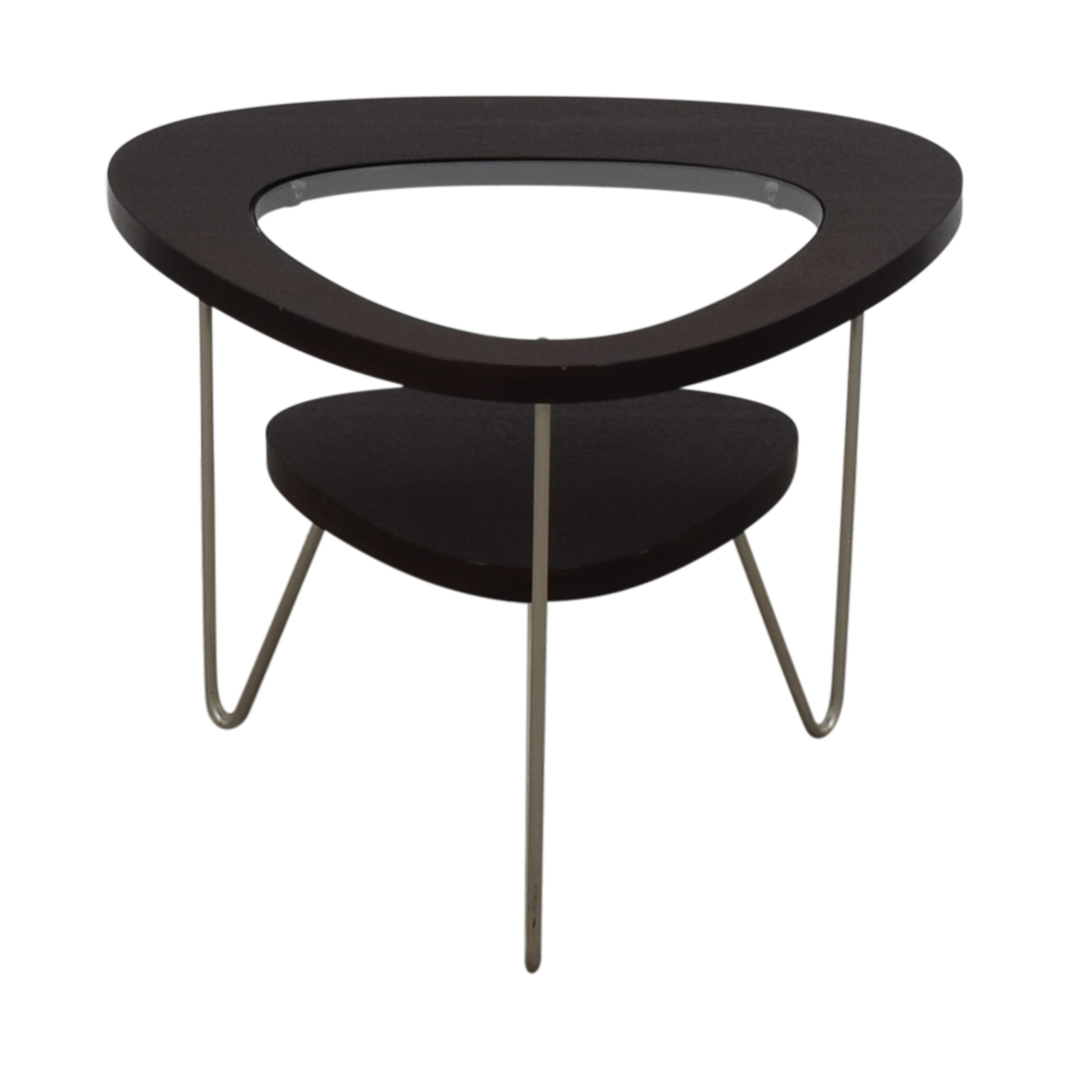 buy BDI Glass and Wood Side Table BDI Tables
