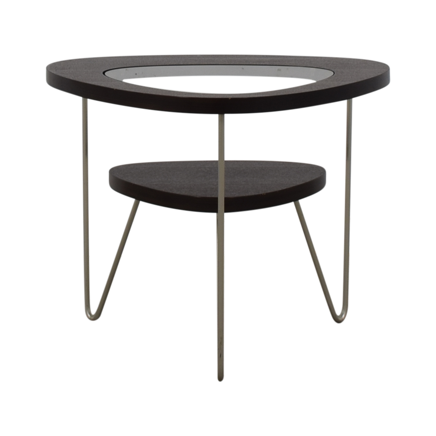 BDI BDI Glass and Wood Side Table brown