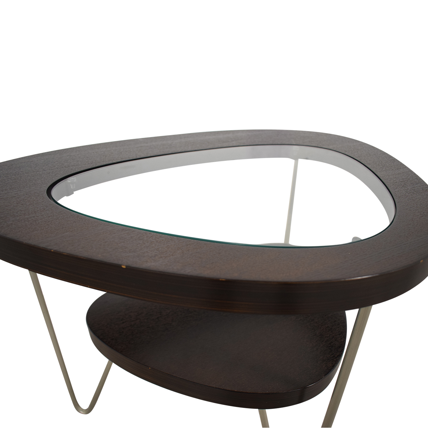 shop BDI Glass and Wood Side Table BDI End Tables