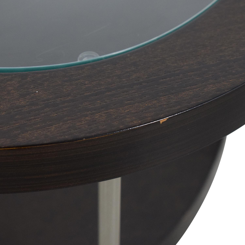BDI BDI Glass and Wood Side Table coupon