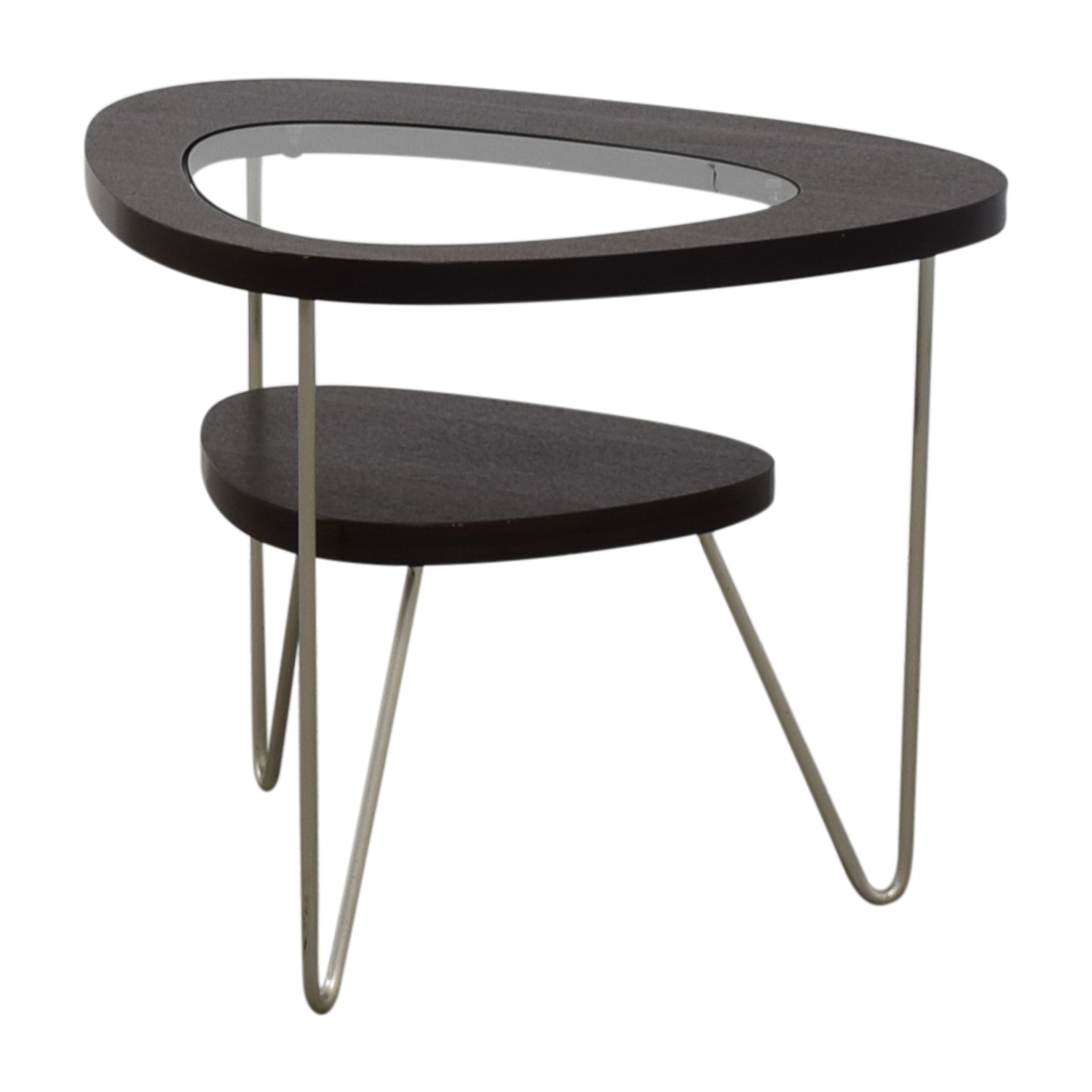 shop BDI Glass and Wood Side Table BDI