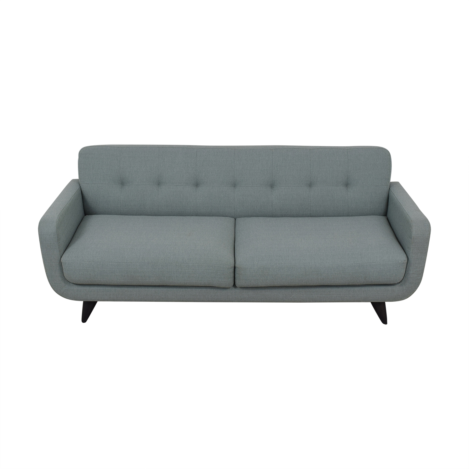 Room & Board Room & Board Anson Blue Grey Tufted Two-Cushion Couch Sofas