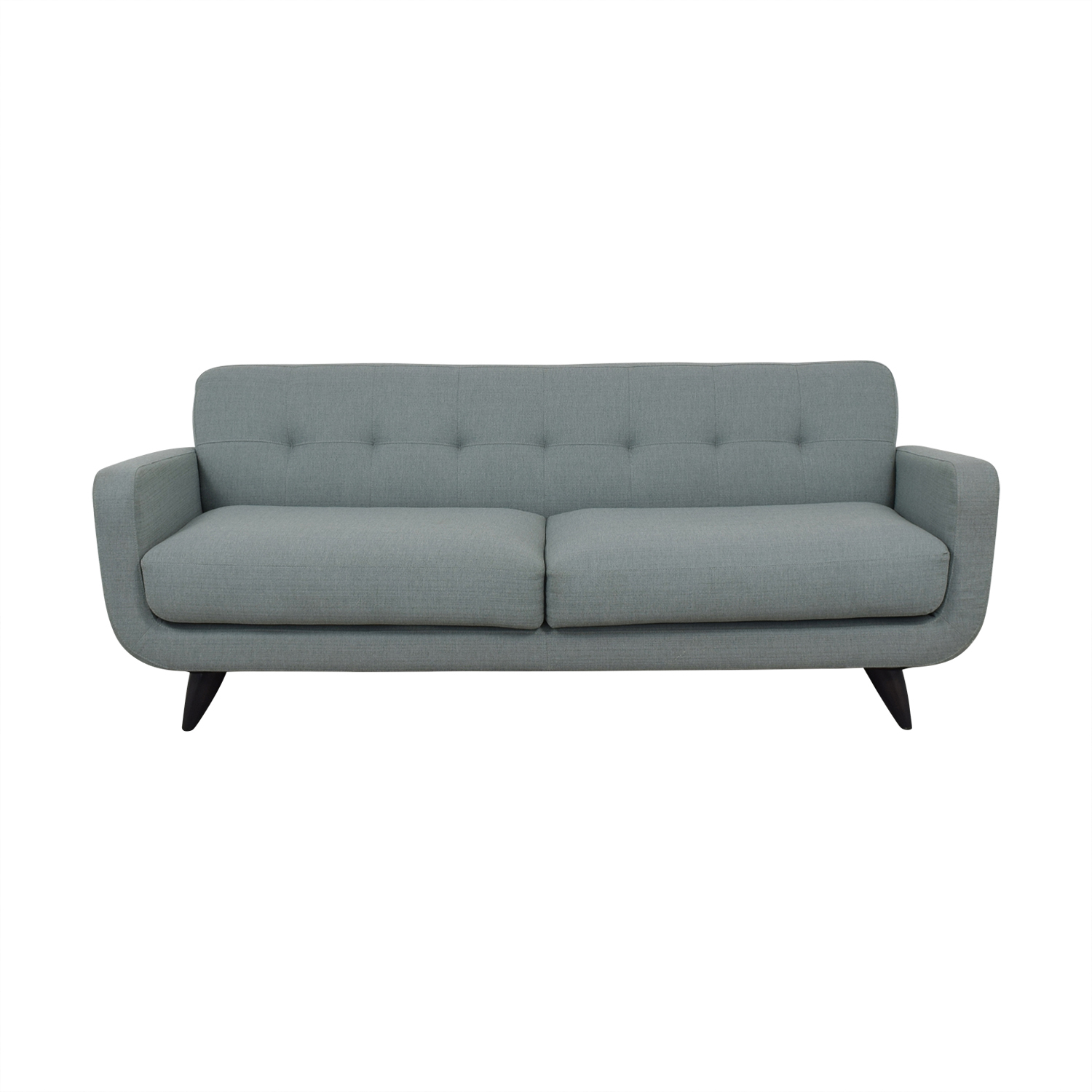 Room & Board Anson Blue Grey Tufted Two-Cushion Couch / Sofas