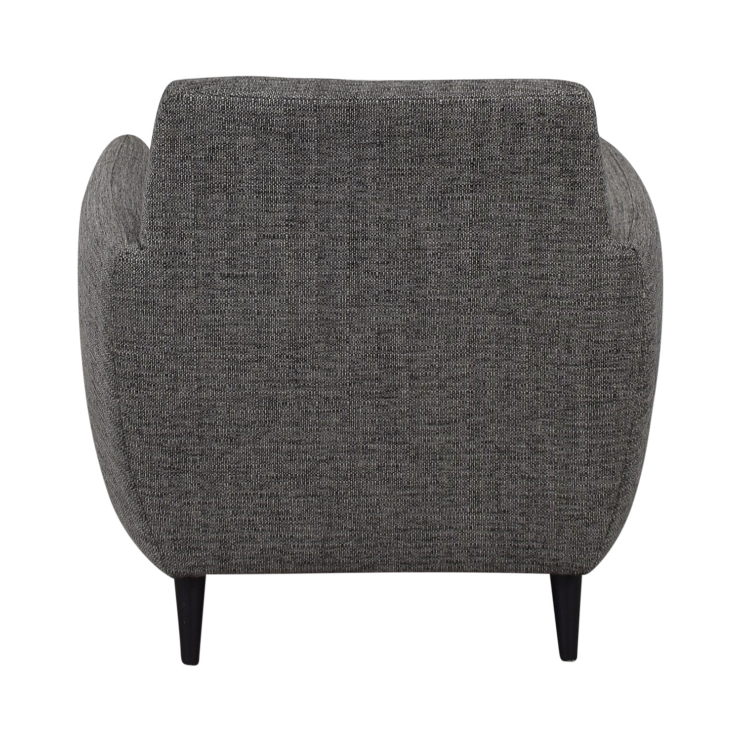 buy CB2 Grey Upholstered Parlour Chair and Ottoman CB2 Accent Chairs