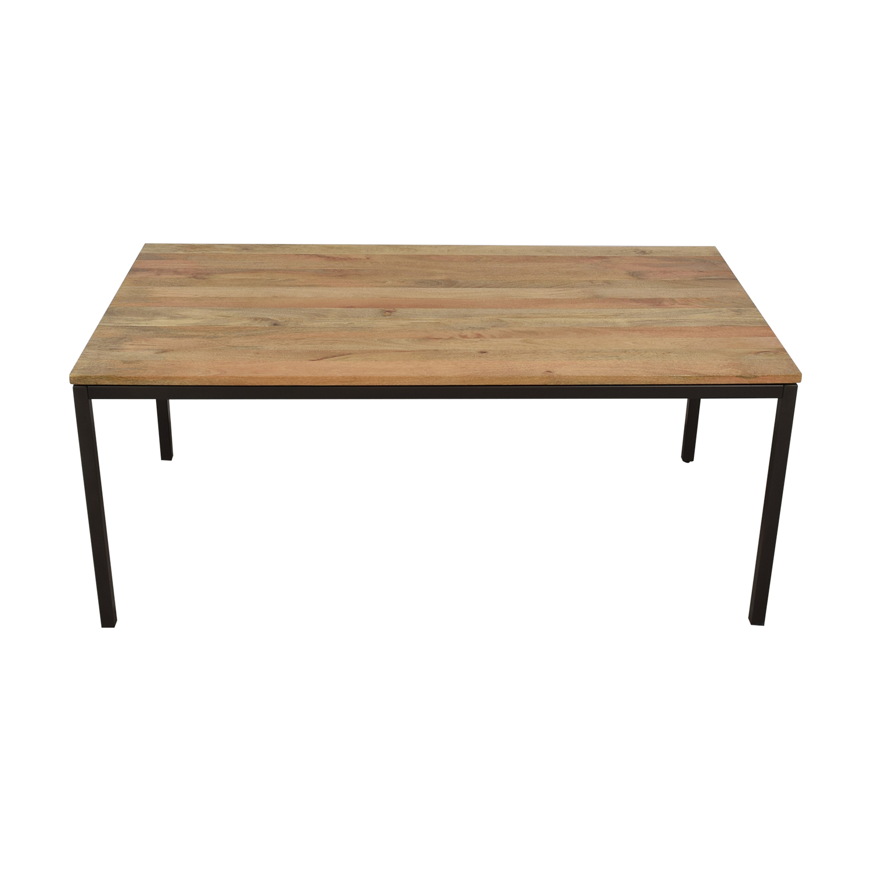 West Elm West Elm Raw Mango Box Frame Dining Table used
