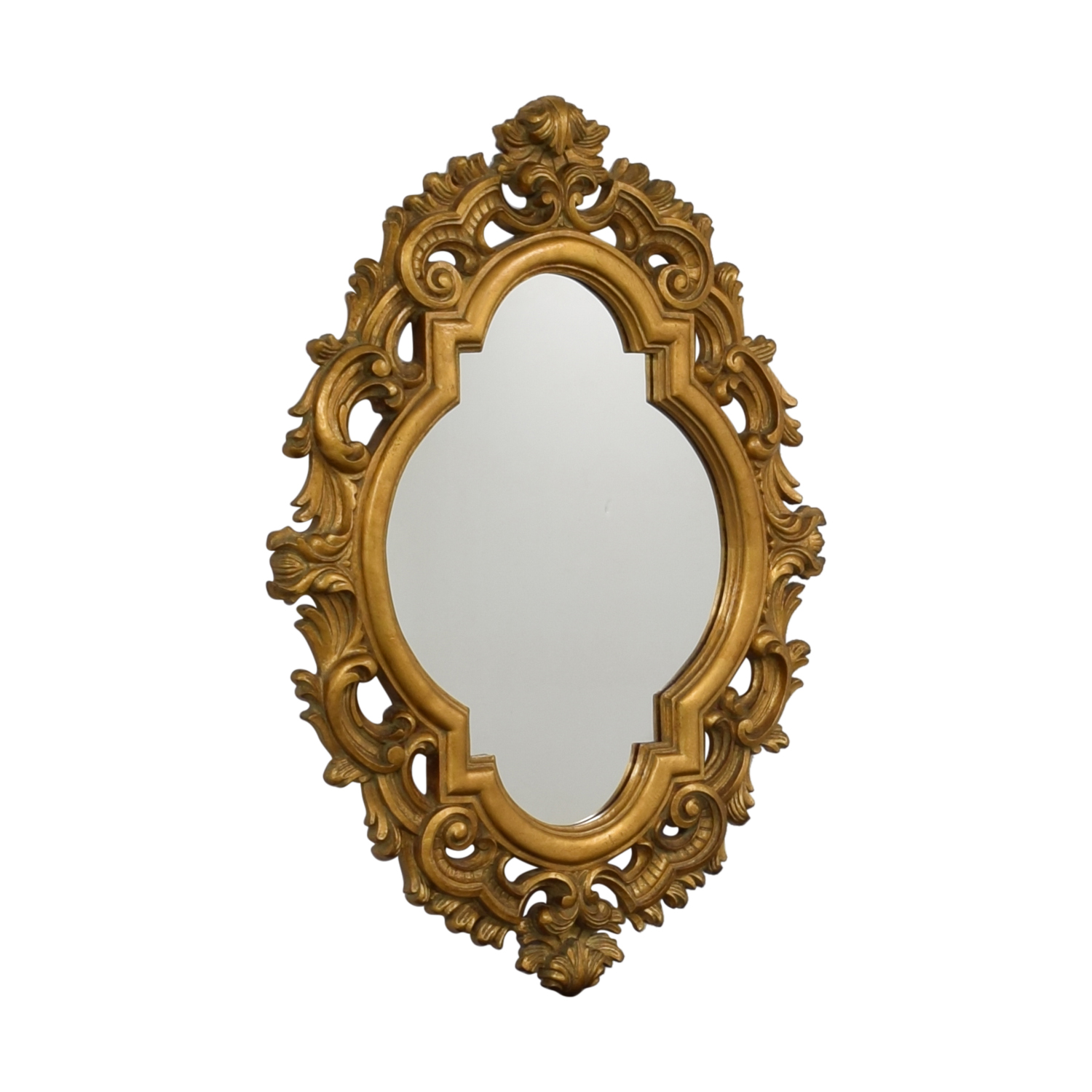 Oval Gold Wall Mirror sale
