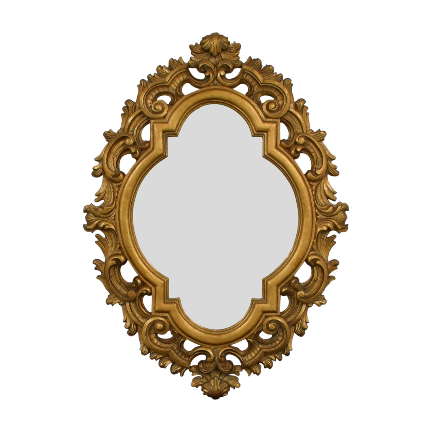 Oval Gold Wall Mirror bronze