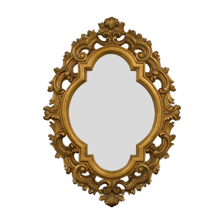 Oval Gold Wall Mirror nyc