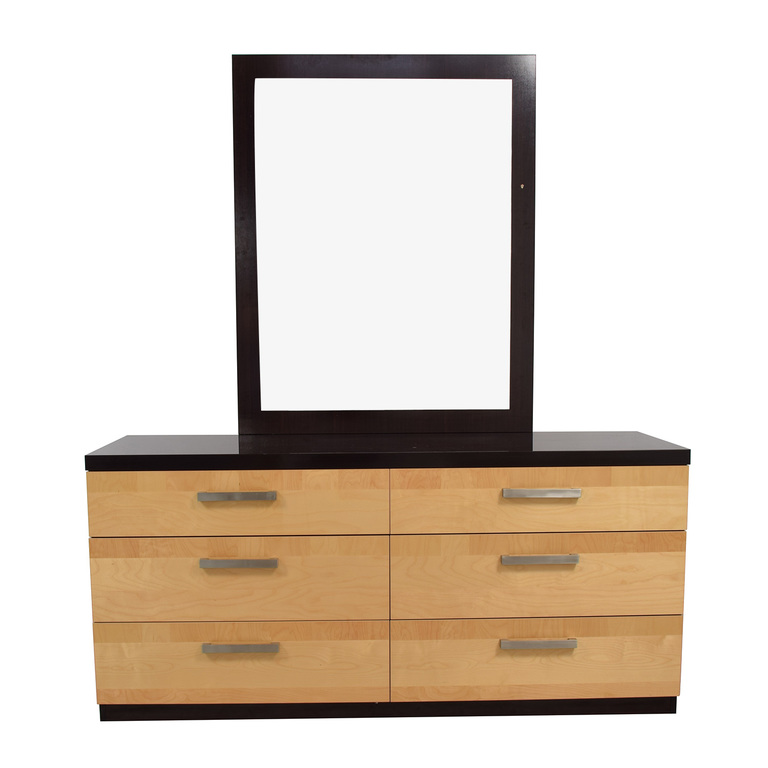 buy Design Group Italian Lacquered Six-Drawer Dresser with Mirror Design Group Storage