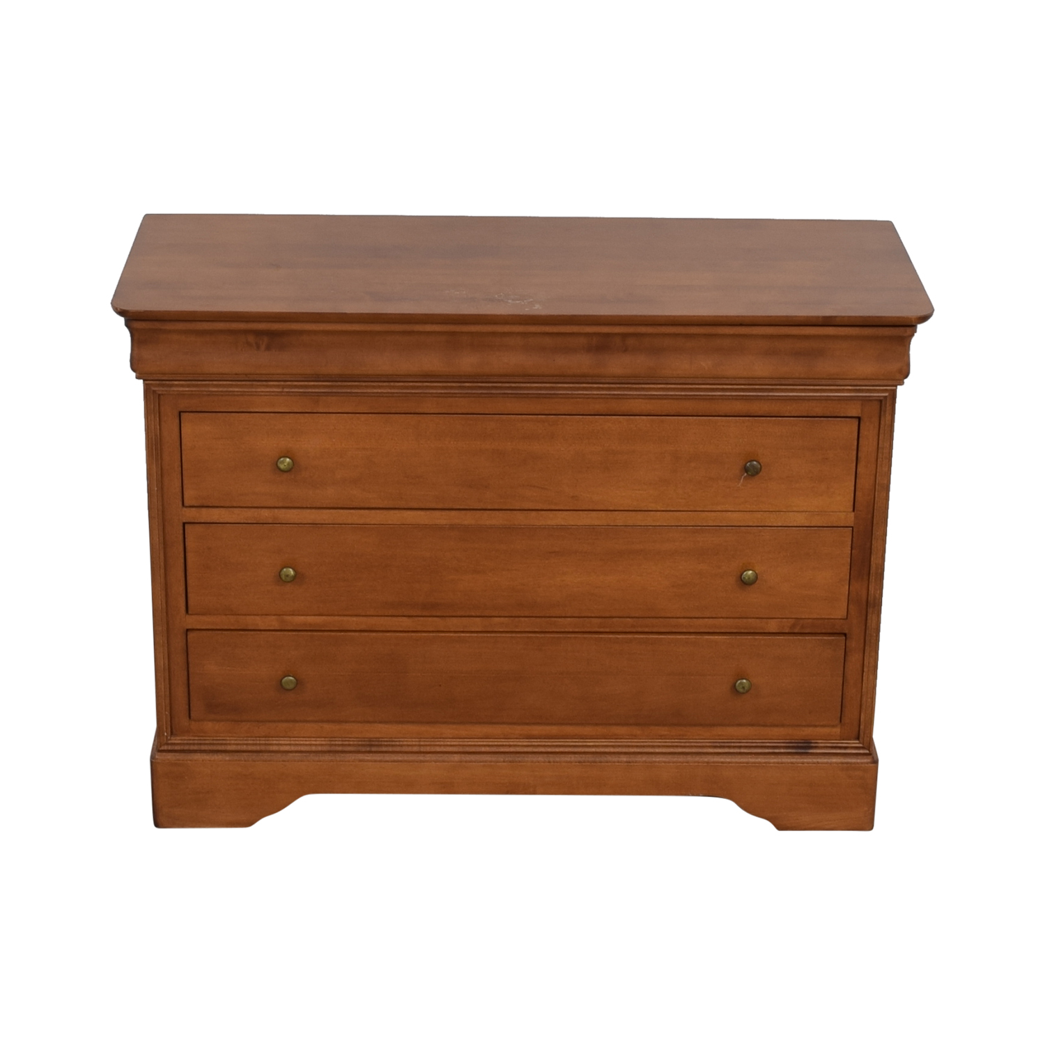 Shermag Shermag Brown Four-Drawer Dresser on sale