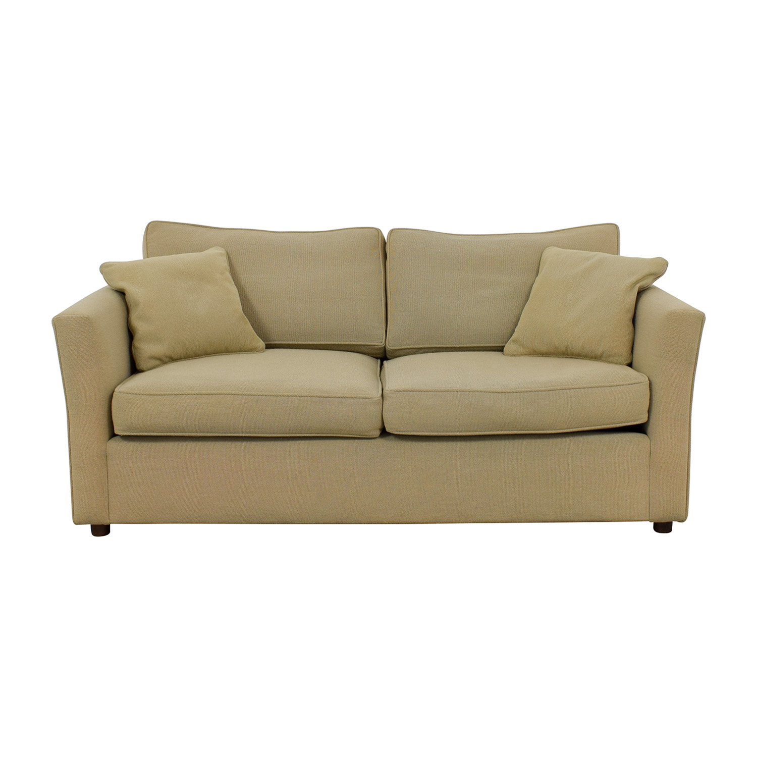 Custom Beige Two-Cushion Sofa nyc