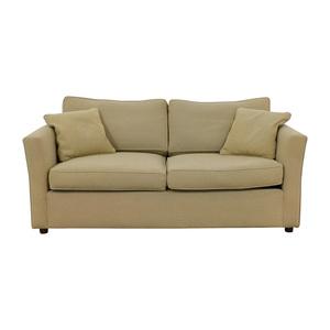 Custom Beige Two-Cushion Sofa used