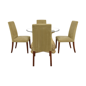 shop  Round Glass Upholstered Dining Set online