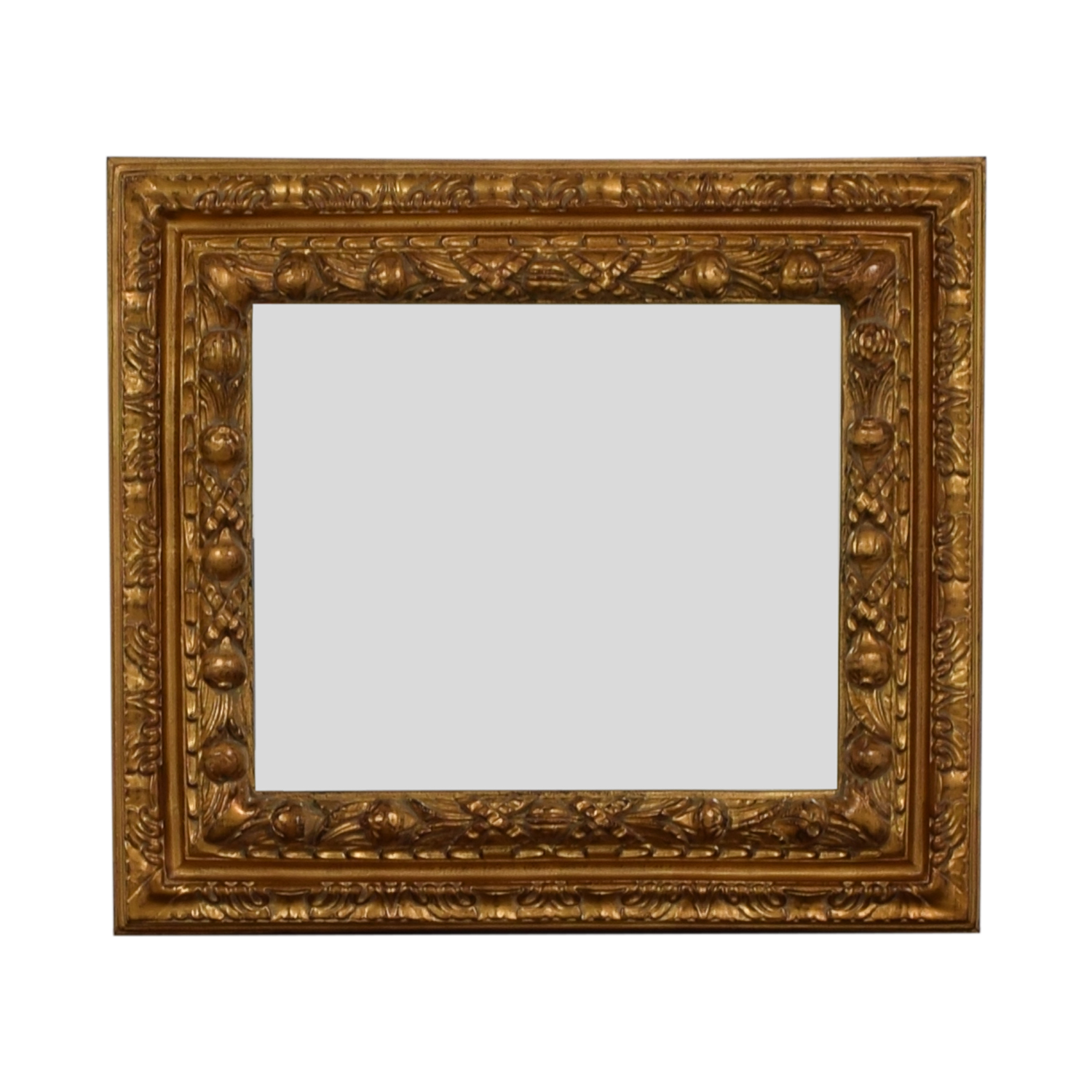 Gold Distressed Wood Framed Wall Mirror dimensions