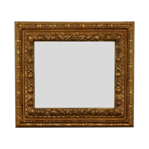 Gold Distressed Wood Framed Wall Mirror nyc