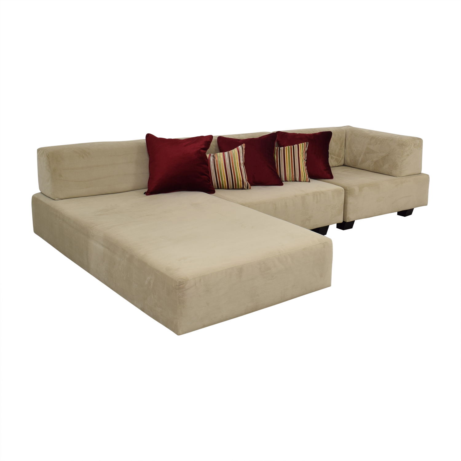 shop West Elm Tillary Beige Chaise Sectional West Elm Sectionals