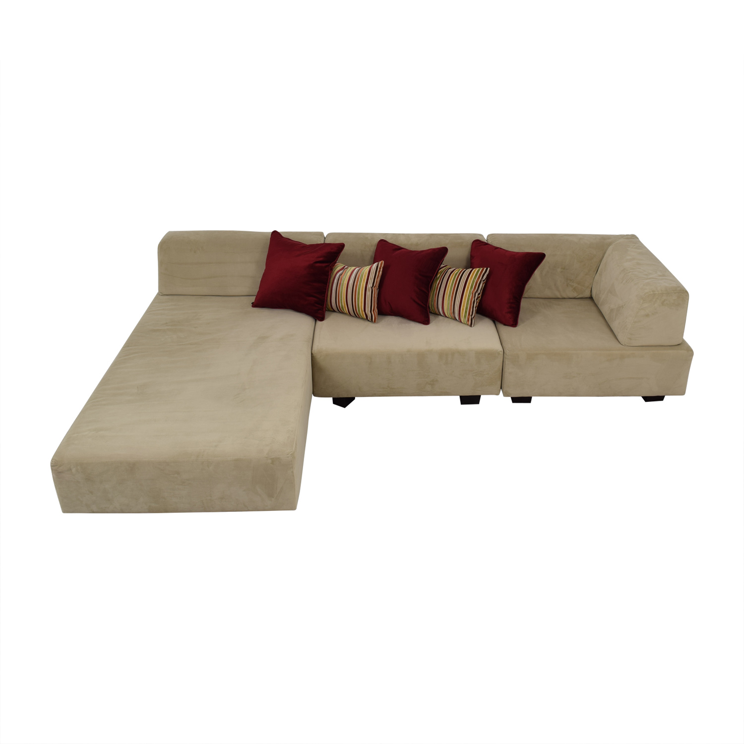 West Elm West Elm Tillary Beige Chaise Sectional for sale
