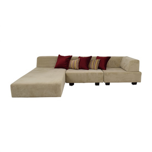 buy West Elm Tillary Beige Chaise Sectional West Elm