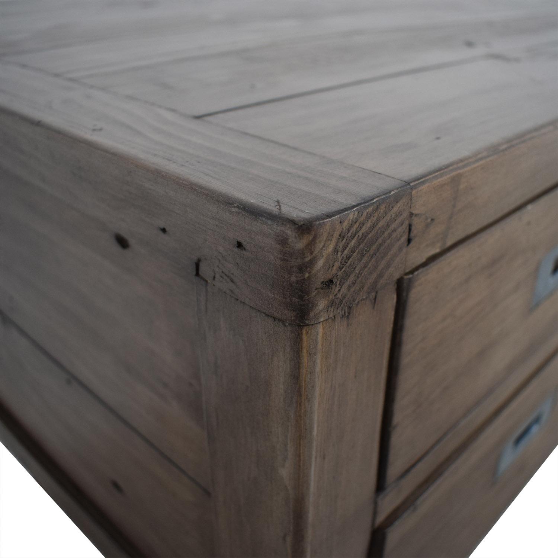 Crate & Barrel Grey Five-Drawer Desk / Tables