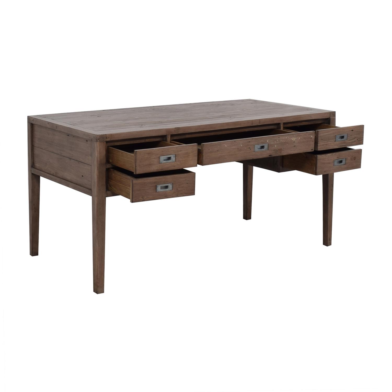 Crate & Barrel Crate & Barrel Grey Five-Drawer Desk