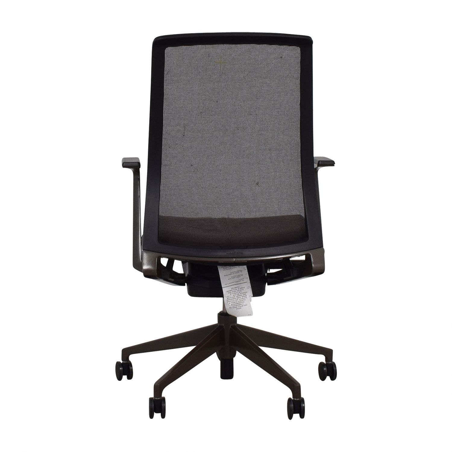 Crate & Barrel Crate & Barrel Black and Brown Haworth Very Task Chair on sale