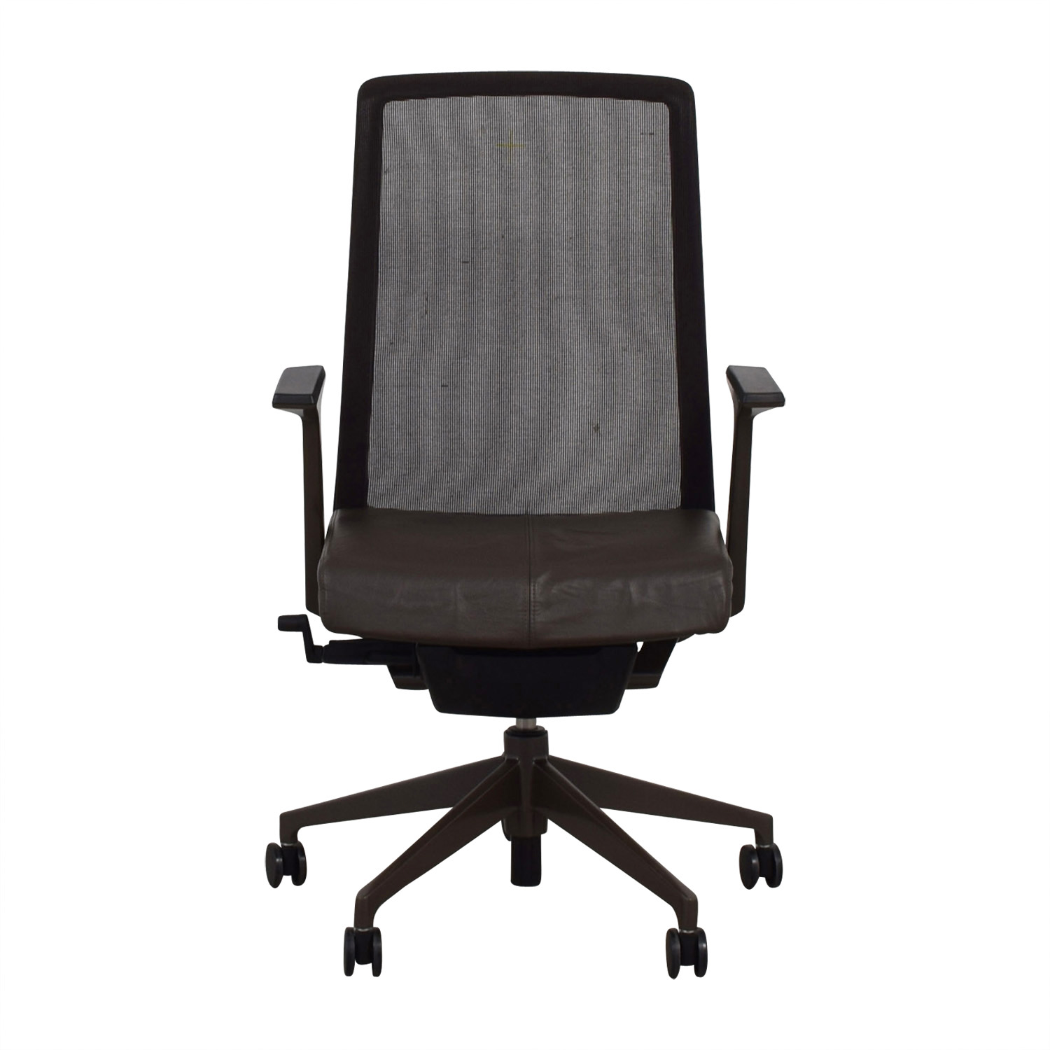 buy Crate & Barrel Black and Brown Haworth Very Task Chair Crate & Barrel Home Office Chairs