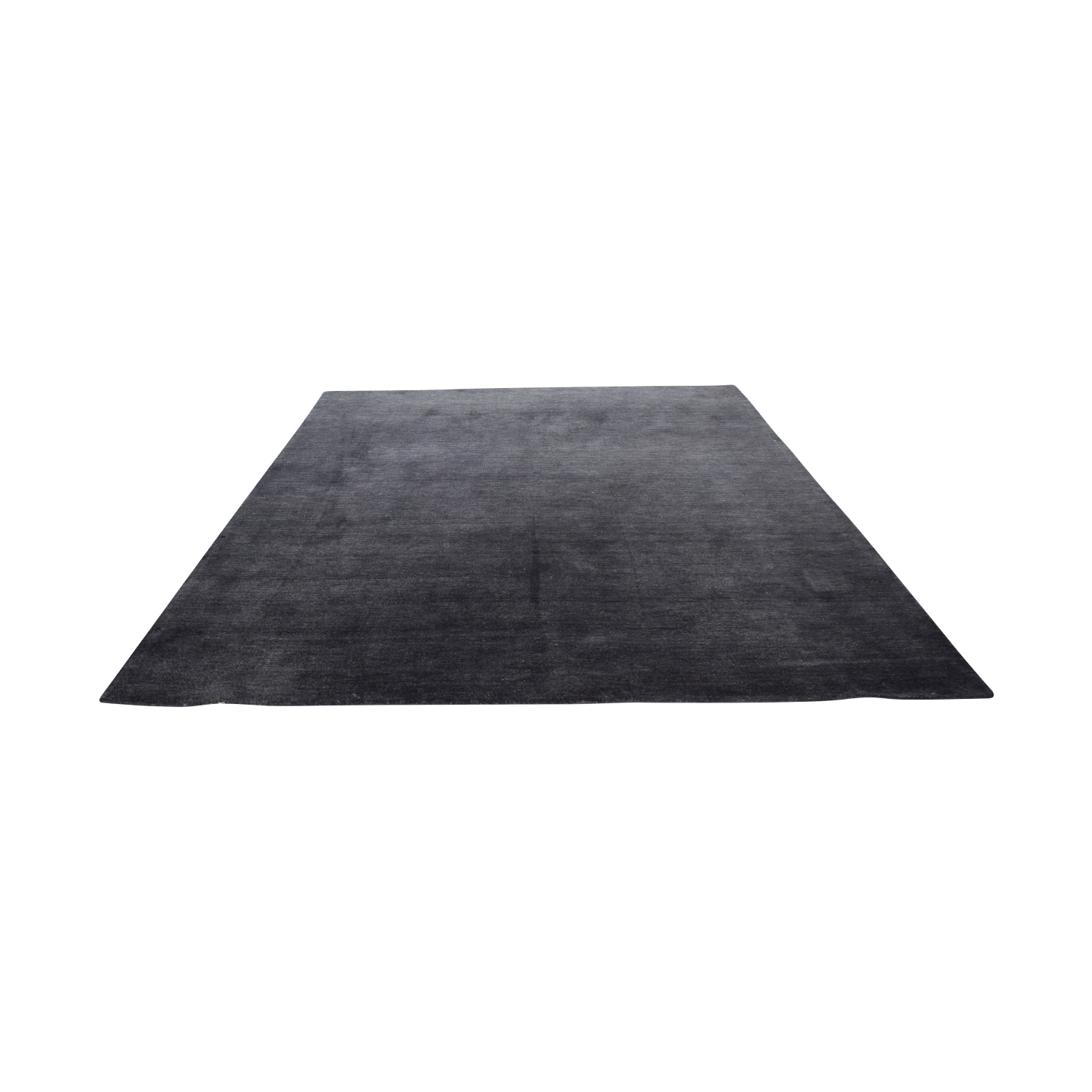 Crate & Barrel Baxter Black Rug Crate & Barrel