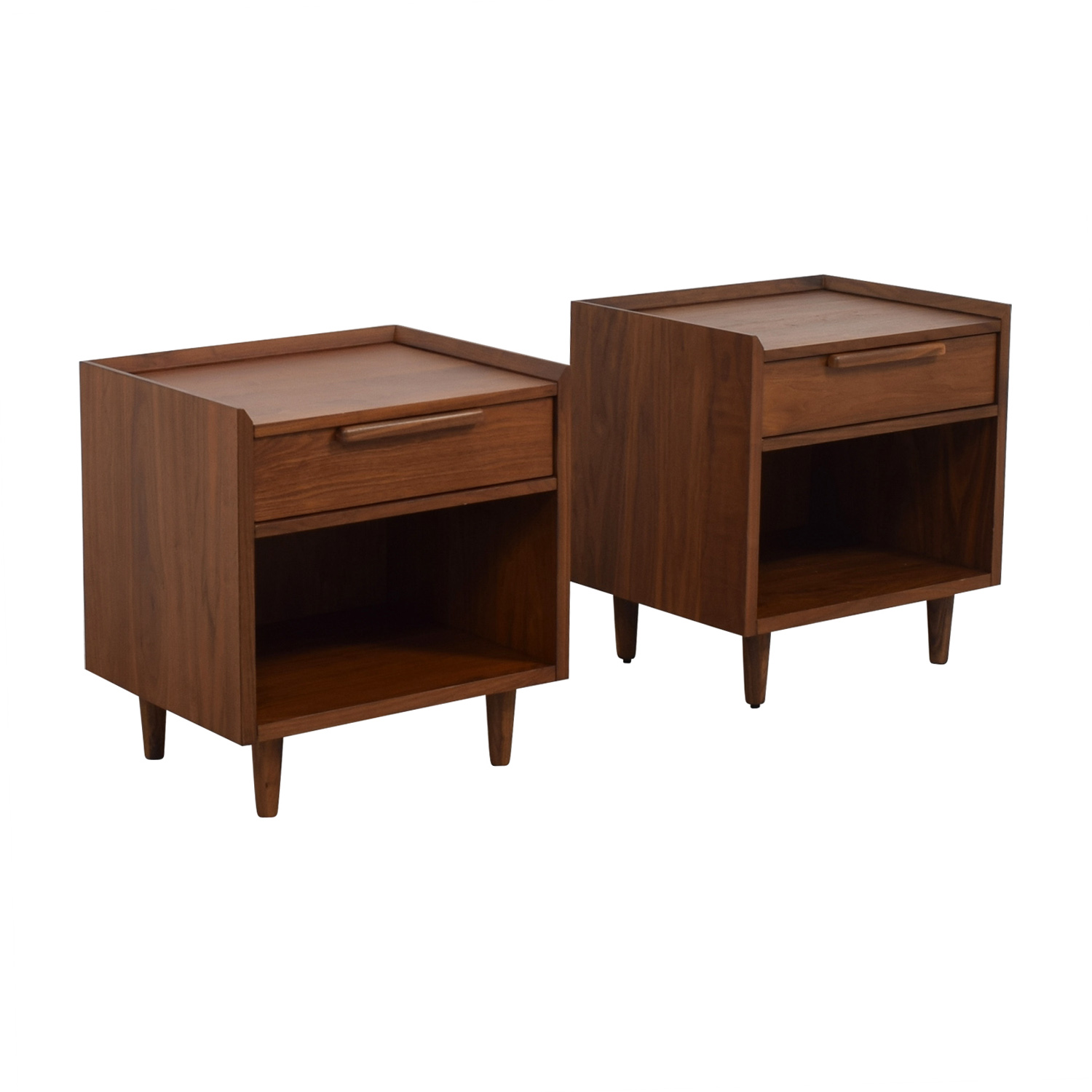 Crate & Barrel Crate & Barrel Single Drawer Nightstands End Tables
