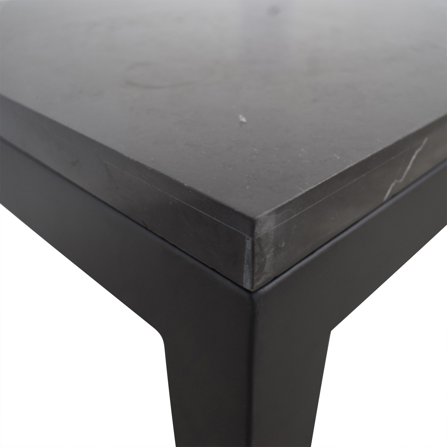 Crate & Barrel Parsons Black End Table / Tables